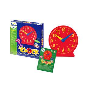 【限宅配】 教具系列-時鐘(背面有磁鐵+腳架)#1014MS  智高積木 GIGO 科學玩具 (購潮8)