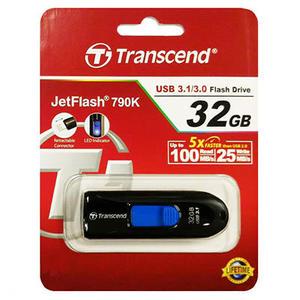 創見32G USB3.1伸縮隨身碟黑TS32GJF790K