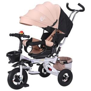 永久折疊兒童三輪車可躺寶寶腳踏車1-3嬰幼兒童手推車童車帶斗 MKS 全館免運
