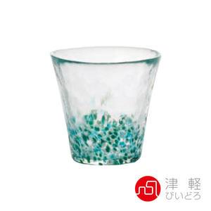 日本津輕 手作粉彩玻璃燒酌杯260ml-綠 品酒必備 小酌 燒酒杯 手作玻璃杯 好友聚會 好生活