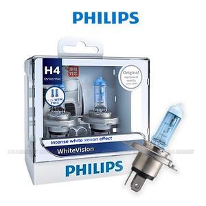 【愛車族購物網】PHILIPS飛利浦 車燈 新璀燦之光 White Vision 3700K 燈泡 (H1/H3/H4/H7/9005/9006)