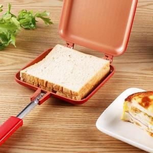 模具家用早餐工具吐司雙面烤盤燃氣電磁爐