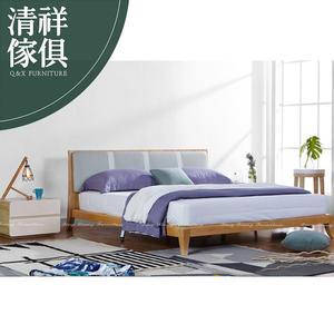 【新竹清祥傢俱】PBB-34BB11 現代北歐輕奢設計梣木六呎床架 雙人加大 實木 輕北歐 民宿 輕空間