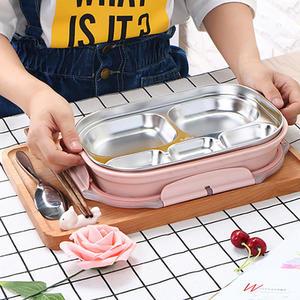 【團購world】 多件優惠 不鏽鋼環保五格快餐盒 學生餐盤 便當保溫盒 便當盒 保溫飯盒
