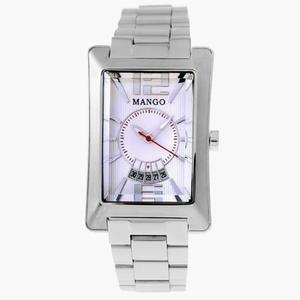 MANGO 榮耀時刻不鏽鋼中性錶-白