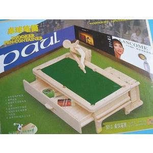 DIY木質3D立體拼圖(S-013撞球/桌球筆筒)/一個[#49]