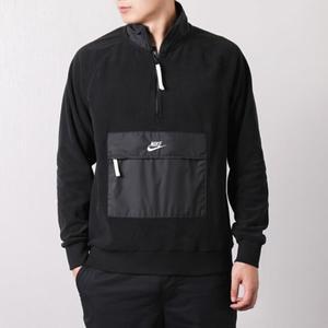 Nike Nsw 黑 口袋 刷毛 立領 衝鋒衣  929098-010 ☆SP☆