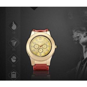 手錶充電點煙器USB電子點煙器防風創意高檔個性金屬男士腕錶【店慶八折特惠一天】