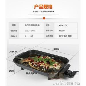 鑫巴旺無煙不粘電烤盤電燒烤爐家用韓國烤肉鍋 巫山烤魚盤機器igo 美芭