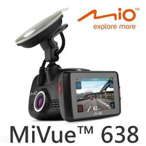 MIO 觸控GPS行車記錄器 MiVue™ 638 ◆內含16G記憶卡◆動態預警GPS固定式測速照相提示☆24期0利率↘☆