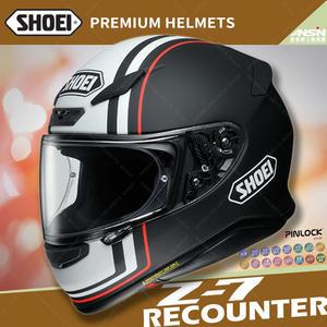 [中壢安信]日本 SHOEI Z-7 彩繪 RECOUNTER TC-5 消光黑白 輕量 全罩 安全帽 小帽體 透氣