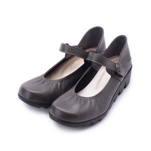 FIRST CONTACT 鋸齒底楔形娃娃鞋 可可 39056 女鞋 鞋全家福
