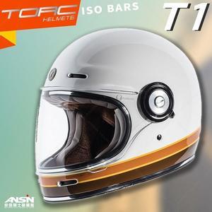 [中壢安信]美國 TORC T-1 T1 彩繪 ISO BARS 白 全罩 安全帽 雙D扣 樂高帽 山車帽