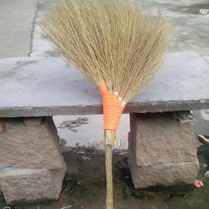 竹掃把 金絲草掃把 掃帚簸箕 軟毛掃 垃圾鏟 純手工笤帚 環衛掃把WD  初语生活馆