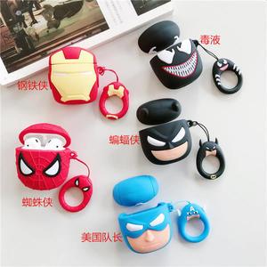 【SZ12】airpods2保護套 復仇者聯盟4蜘蛛人蝙蝠俠矽膠套 airpods1保護套 airpods iphone保護殼