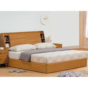 床架 AT-394-5A 肯詩特柚木色6尺雙人床 (床頭+床底)(不含床墊) 【大眾家居舘】