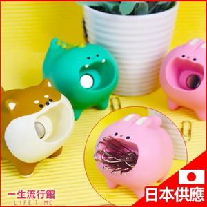 《日貨》柴犬 恐龍 兔子 狗狗 日本 Decole 飢餓小動物 迴紋針 磁鐵收納盒 辦公小物  C13084