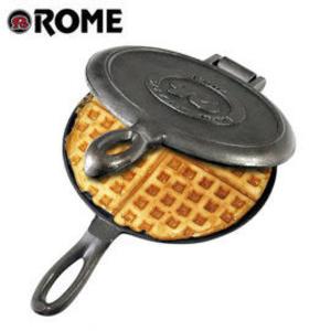 丹大戶外用品【ROME】美國 1100 懷舊華夫餅烤盤 鑄鐵盤/烤派盤/鑄鐵烤夾/鐵盤/鬆餅