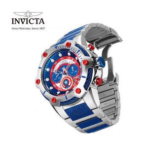 【INVICTA X MARVEL】漫威聯名款 美國隊長 雙色男士計時腕錶 51.5 mm