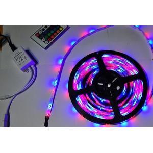 【世明國際】5米防水LED 5050RGB 五米彩色遙控燈條 七彩LED跑馬燈條 +遙控器 露營 戶外 裝飾 氣氛