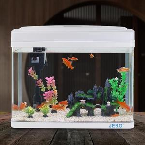 魚缸水族箱玻璃免換水魚缸生態創意小型迷你桌面懶人金魚缸造景T