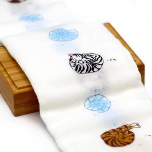 【貓粉選物】日本毛巾-貝殼貓-33X95cm 親膚毛巾/100%天然綿/日本製/純天然