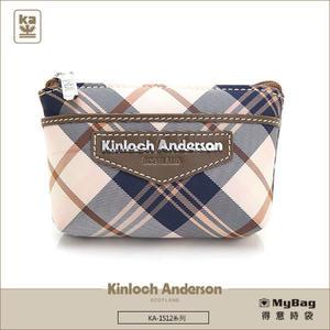 Kinloch Anderson 金安德森 皮夾 英式學院 咖啡 經典格紋女夾 零錢包 KA151210 MyBag得意時袋