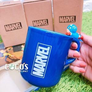 正版 MARVEL 復仇者聯盟 美國隊長立體造型 杯緣子 陶瓷馬克杯 杯子 水杯 馬克杯 COCOS SS280