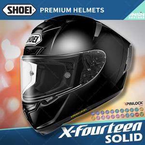 [中壢安信]日本SHOEI X-Fourteen X14 素色 黑 全罩 頂級 安全帽 內襯全可拆 X-14