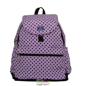 Roland 多口袋設計大容量 後背包 媽媽包 Dora II 水玉紫