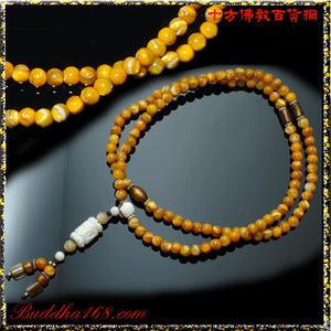 金珊瑚&黃金硨磲108念珠6mm  【十方佛教文物】