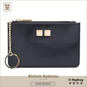 Kinloch Anderson 金安德森 皮夾 MOON 卡夾鎖圈零錢包 黑色 KA191002 得意時袋