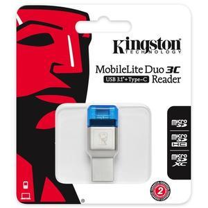 讀卡器 kingston金士頓 FCR-ML3C 高速USB3.1 type-c雙接口 讀卡器 雙11