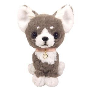 日本PUPS可愛玩偶 吉娃娃灰色 仿真小狗絨毛娃娃公仔毛絨玩具狗雜貨生日禮物小孩聖誕節送禮
