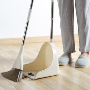 ◄ 生活家精品 ►【Z87】掃把大簸箕組合兩件套 家用 套裝 居家 地板 清潔 笤帚 掃頭髮 軟毛掃帚