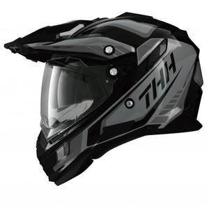 THH TX27 TX27A 全罩 安全帽 越野帽 遮陽鏡片 雙層鏡片 《鋼鐵英雄》黑/灰 黑灰(好禮3選1)