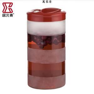 玻璃密封罐釀酒發酵瓶家用藥酒酵素泡酒玻璃瓶密封罐子 萬客居