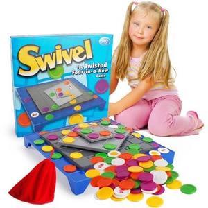 3D旋轉四子棋←旋轉棋盤遊戲 益智玩具 Swivel 旋轉四連棋 互動兒童