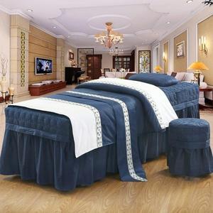 【免運】美容床罩全棉美容床罩四件套美容院床罩美體按摩SPA床品可定做
