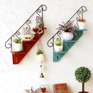 歐式創意樓梯壁掛家居花架掛鉤墻面裝飾品