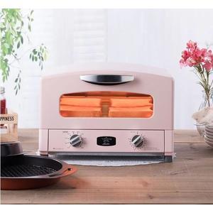 粉色 日本Sengoku Aladdin 千石阿拉丁專利0.2秒瞬熱 復古多用途烤箱(附烤盤) AET-G13T  遠紅石墨技術