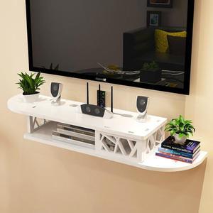 掛墻上置物架電視墻機頂盒置物架隔板置物架子免打孔收納盒 格蘭小舖