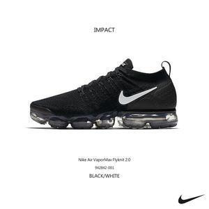 IMPACT Nike Air VaporMax Flyknit 2.0 黑 白 氣墊 編織 慢跑 942842-001
