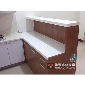 【歐雅系統家具】多功能LG人造石台雙層吧台櫃