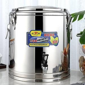 不銹鋼保溫桶商用加厚飯桶大容量奶茶桶茶水豆漿冰桶開水桶帶龍頭ATF 沸點奇跡