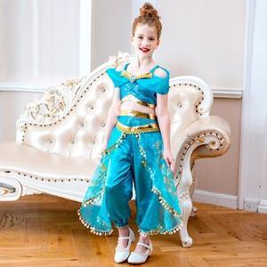 萬圣誕節 兒童萬聖節服裝 萬聖節服裝 茉莉公主裙 角色扮演服裝 派對用品