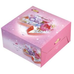 {花園香氣}8吋手提布丁盒組(附盤) 蛋糕盒 (50入/組)