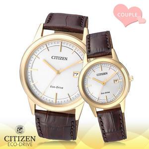 CASIO 手錶 專賣店    CITIZEN 星辰 手錶 AW1233-01A+FE1083-02A 對錶 光動能錶 小牛皮錶帶 白 強化玻璃