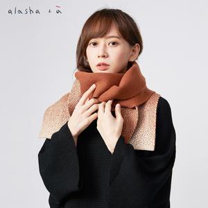 a la sha+a  優雅雙色點點漸層圍巾