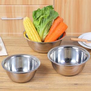 家用不銹鋼盆304小號大號廚房水槽圓形洗菜盆湯碗盆加厚加深盆子「寶貝小鎮」